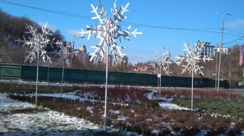 3D снежинки
