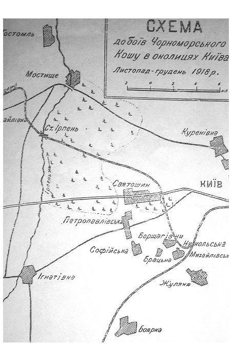 Боевой путь Черноморского коша под Киевом