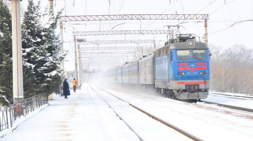 Зима поезд