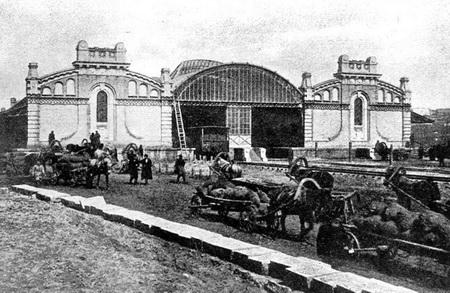 Железнодорожная станция на Соломенке, сейчас Киев-Товарный