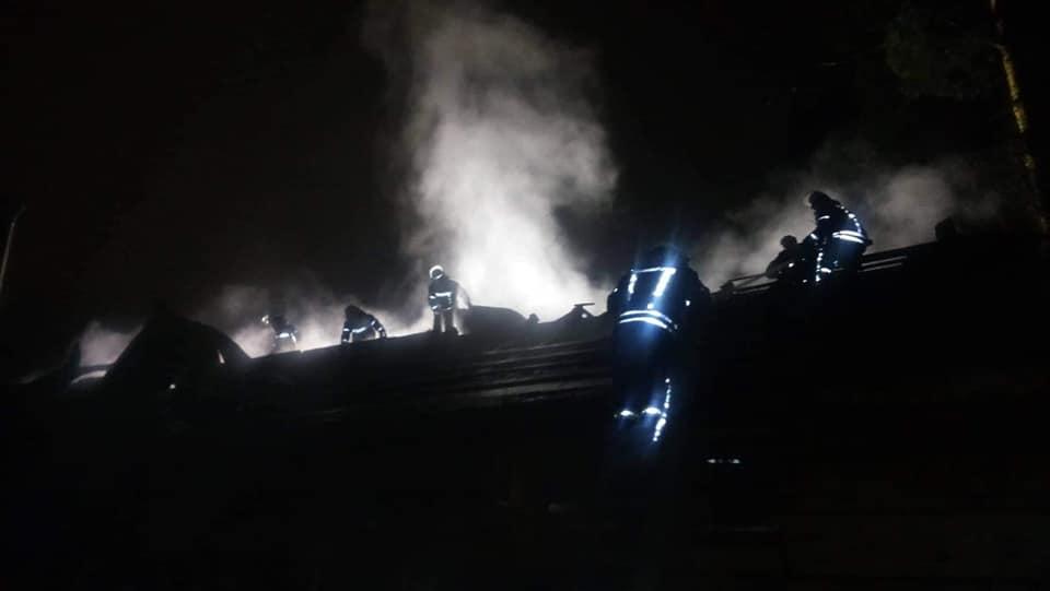 пожар, ресторан