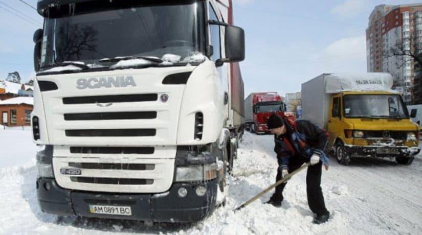 Въезд грузовиков