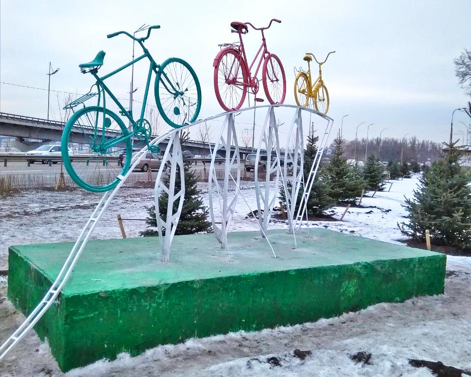 инсталляция, вело