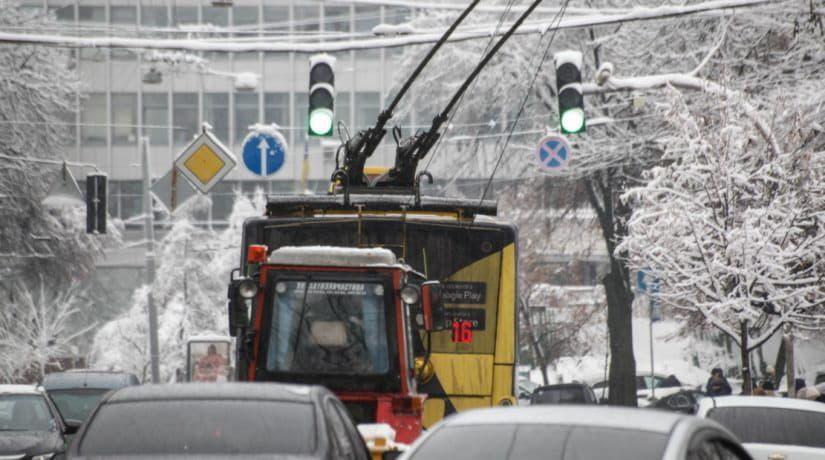 зима транспорт