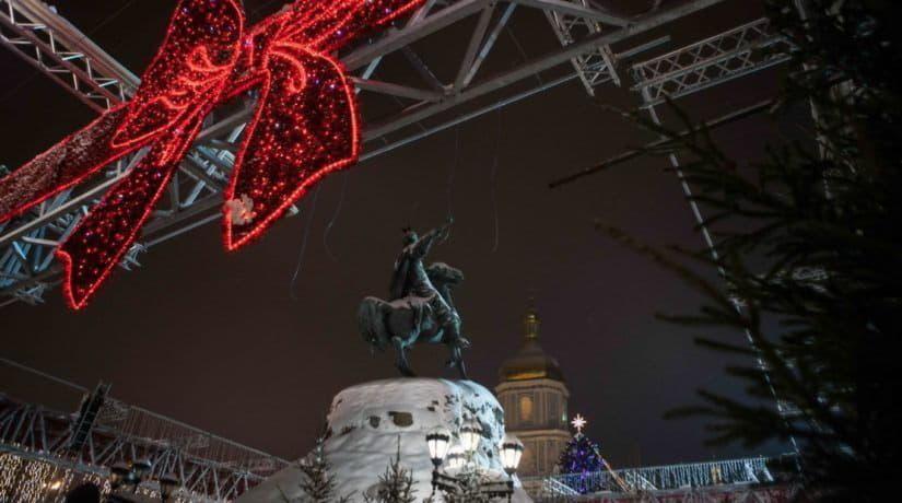 Как Киев начинает отмечать новогодние праздники