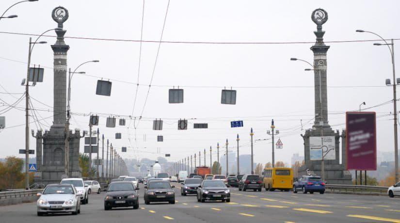 По мосту Патона полностью закроют движение транспорта