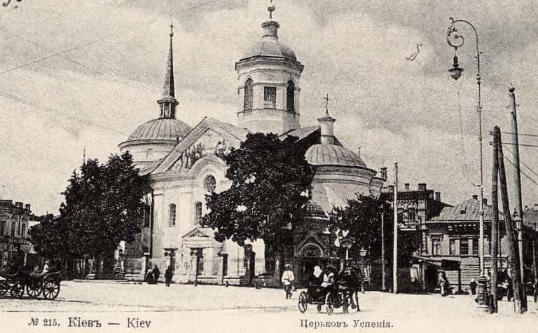 церковь, Подол, Богородицы, успения, старый, Киев
