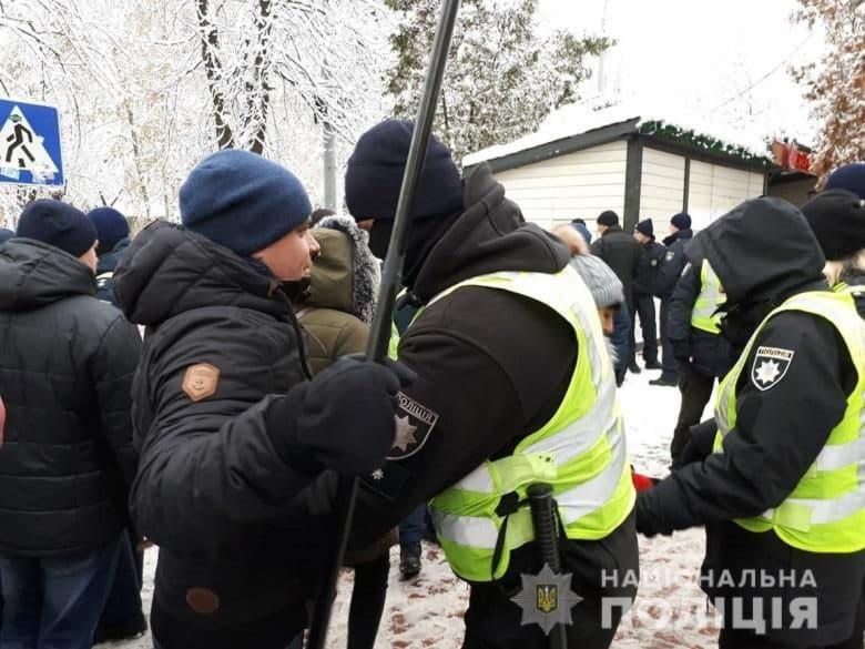 охрана центра Киева