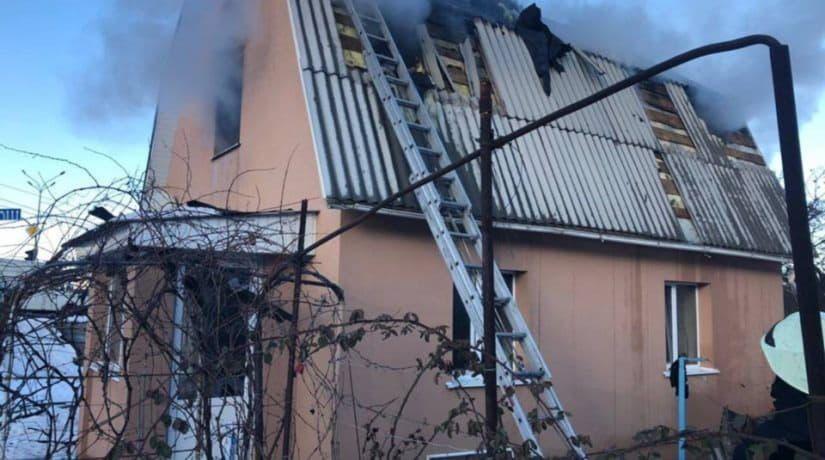 пожар, частный дом