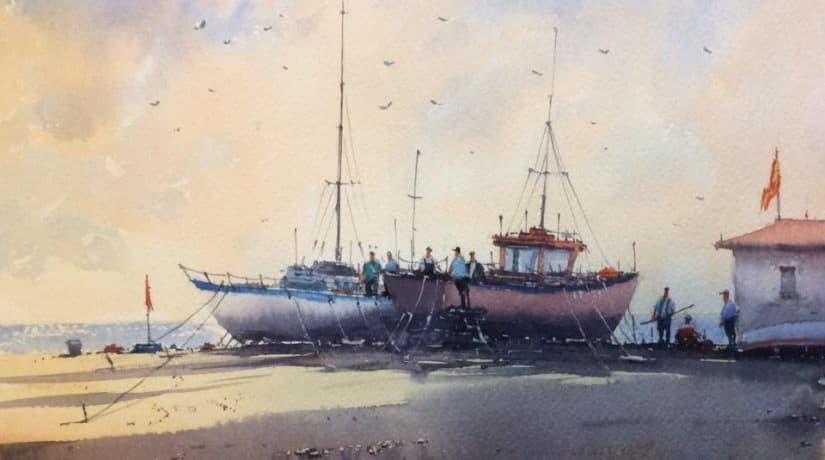 Море акварели, выставка
