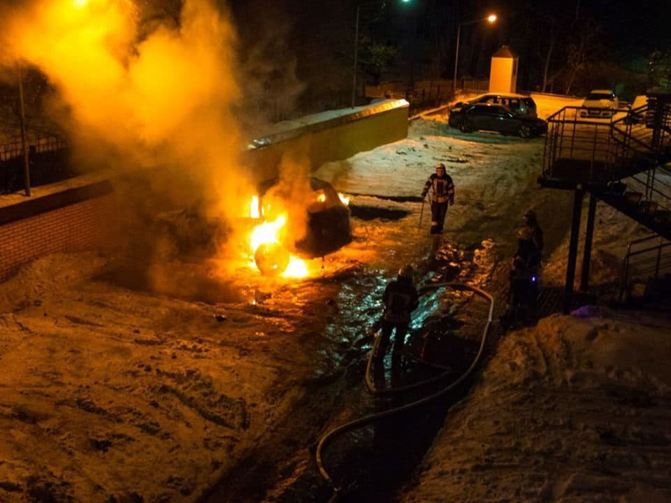 авто, пожар