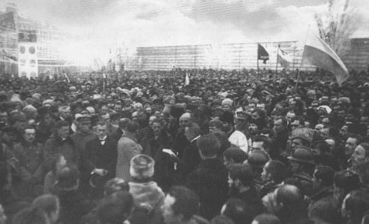 Митинг по случаю провозглашения Акта Злуки