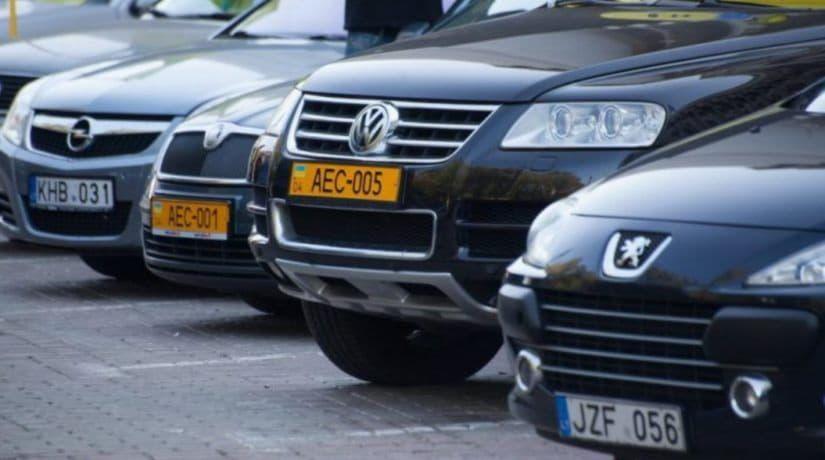 За две недели киевляне оформили 4,4 тысячи автомобилей на еврономерах