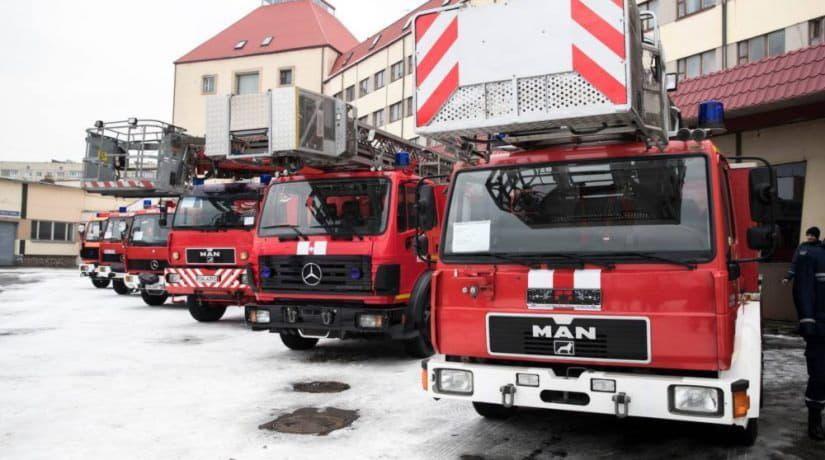Мюнхен подарил киевским спасателям шесть пожарных машин