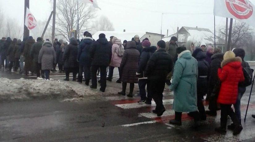 В Киевской области жители перекрыли черниговскую трассу