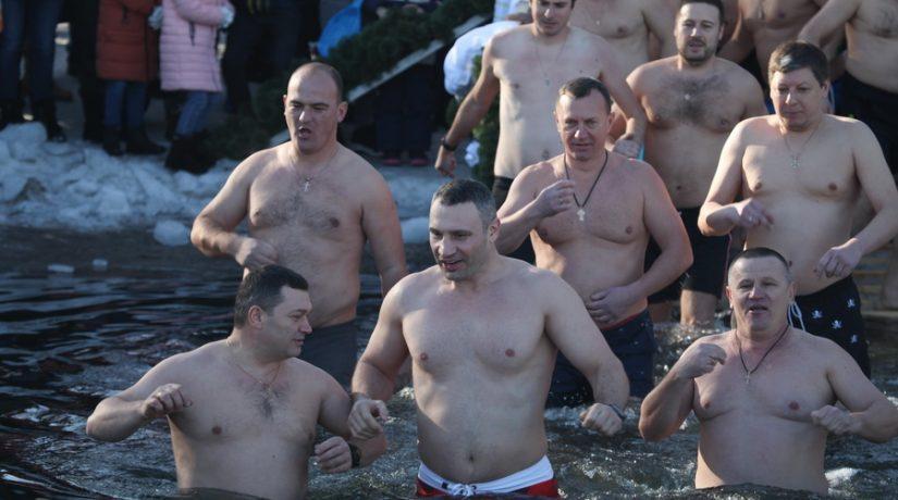 Крещение, купание, Кличко