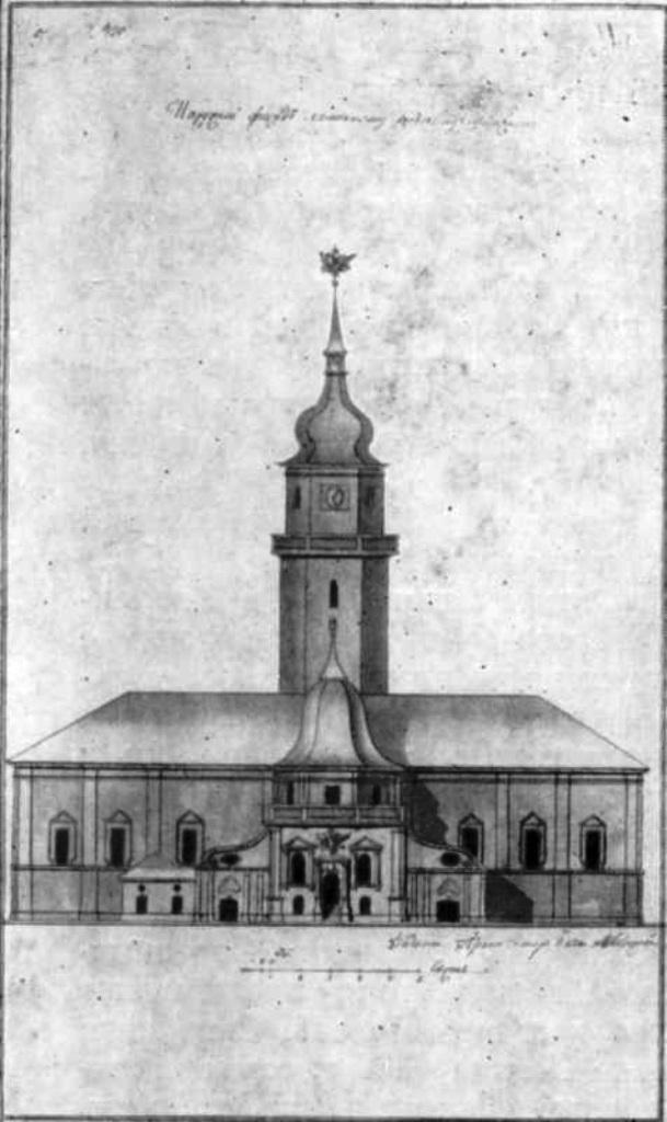 Чертеж Киевской ратуши Андрея Меленского