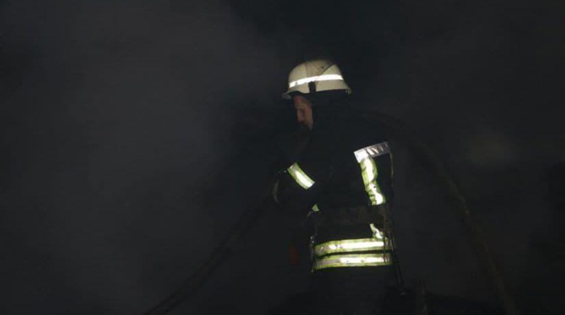 пожар, ангар, гаражный кооператив