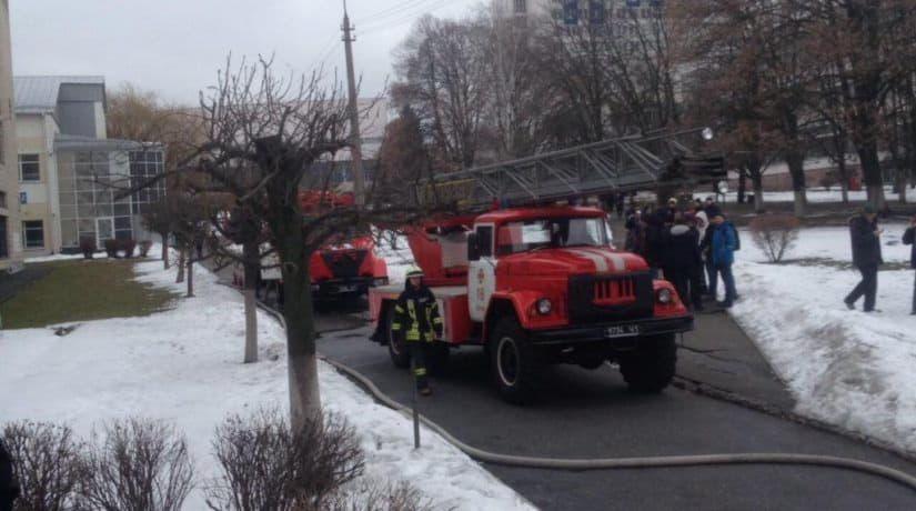 Пожар авиационный университет