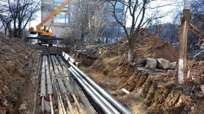 Замена трубопровода