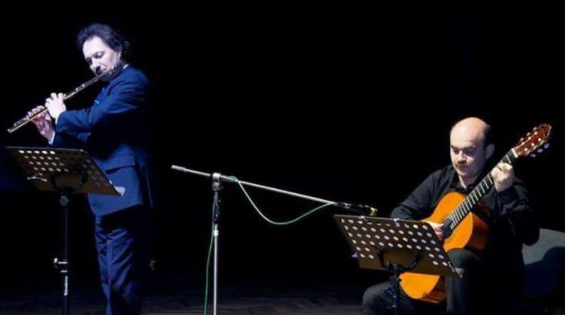 Национальная филармония приглашает послушать дуэт флейты и гитары