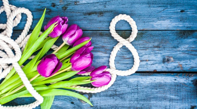 Украинцы отмечают международный женский день