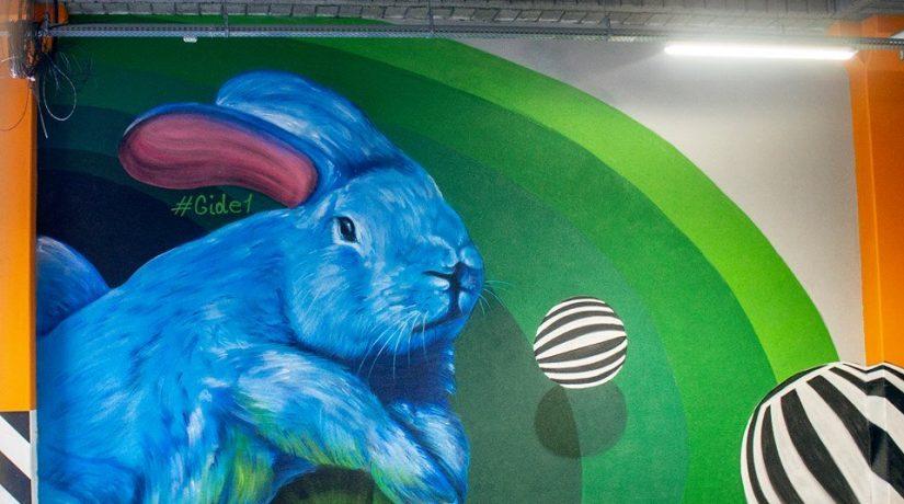 Мурал кролик