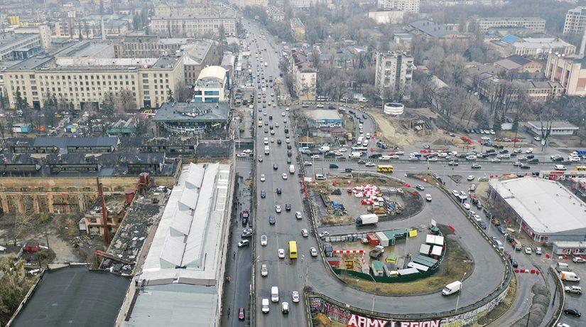 Шулявский путепровод закрыли на реконструкцию