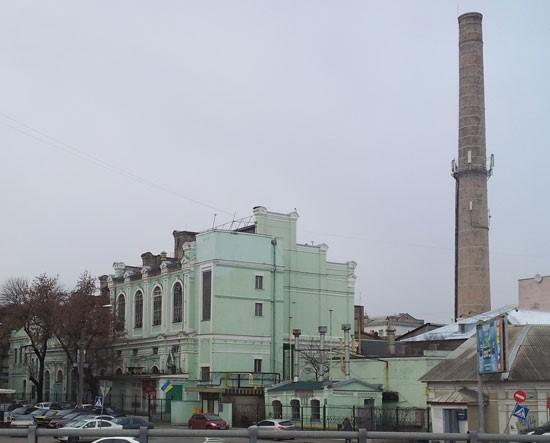 Здание первой Центральной электростанции на улице Андреевской