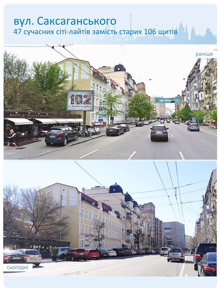ул. Саксаганского, реклама