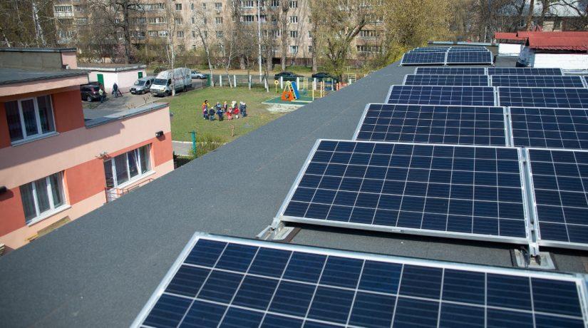 Благодаря солнечным панелям киевский детский сад сэкономит 25 тысяч гривен
