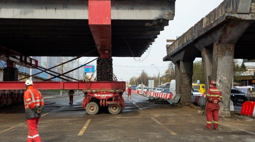 Разборка Шулявского моста