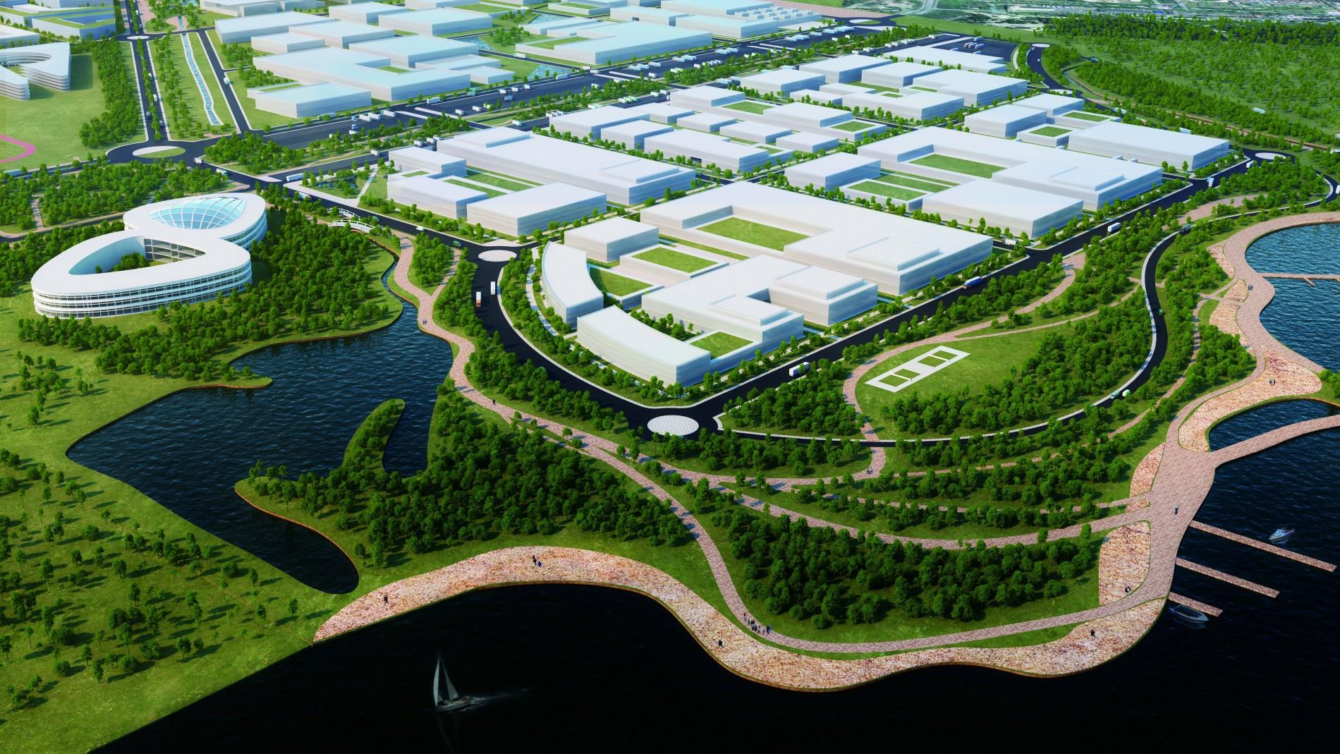Рендер Троещинского индустриального парка – город ищет инвесторов