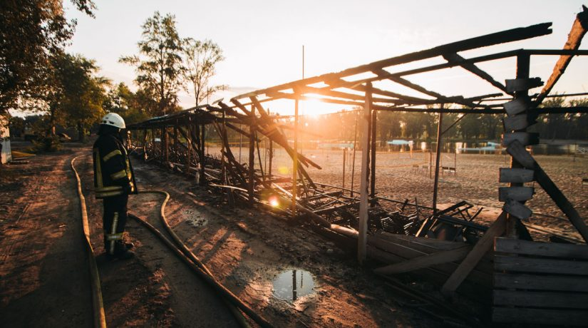 Муромец, волейбольное поле, пожар