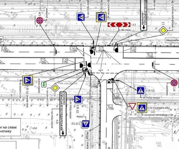 Голосеевский проспект, светофор, наземный переход