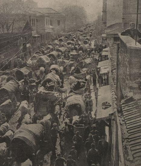 Турецкие крестьяне бегут от войны, фото «Киевской Мысли», 1912 г.