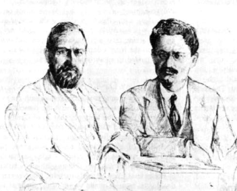 Крыстю Раковский и Антид Ото в Бухаресте, 1913 г.