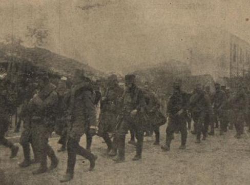 Отступление сербской армии, фото «Киевской Мысли», 1916 г.