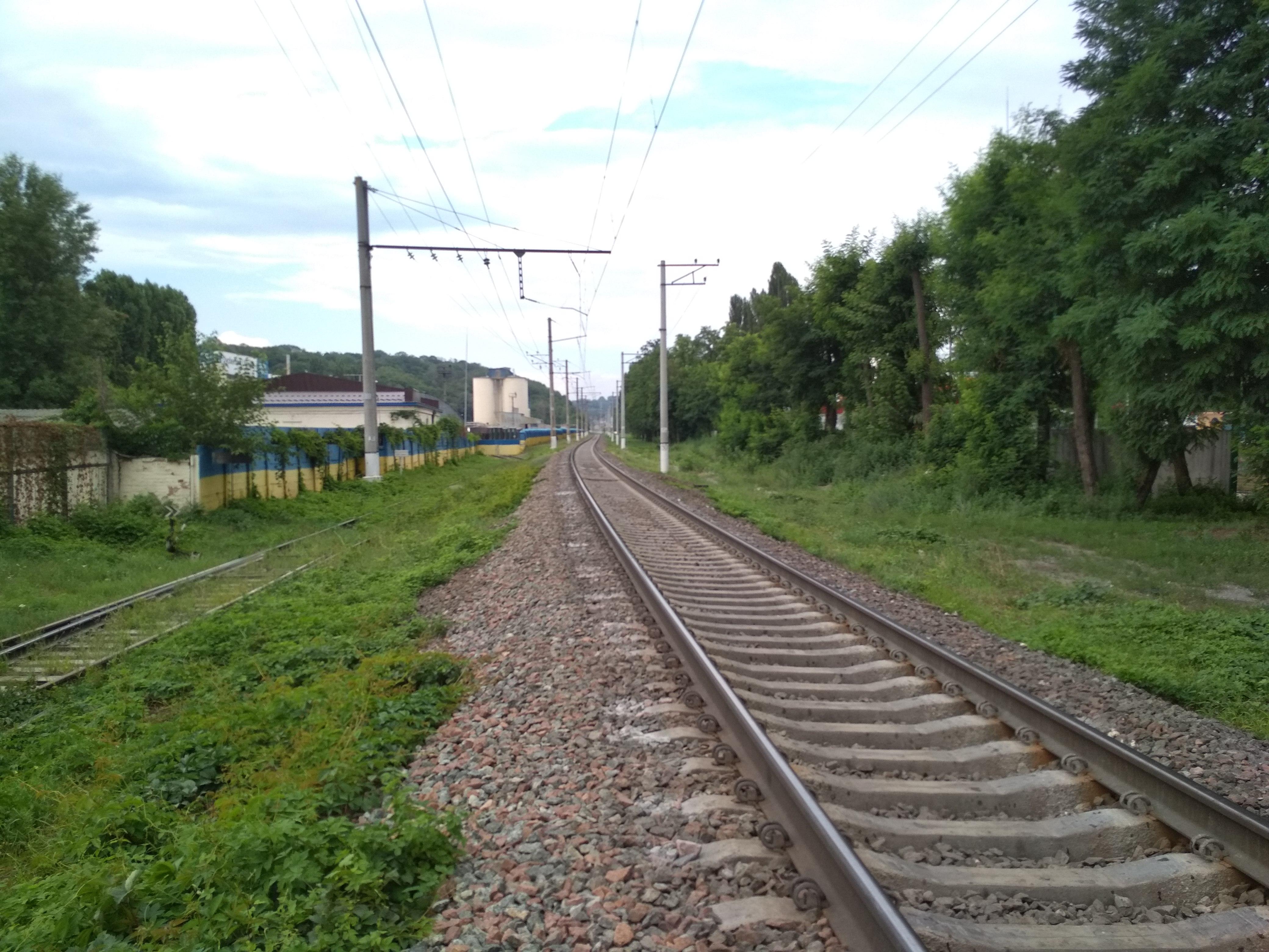 На Триполье – однопутная линия