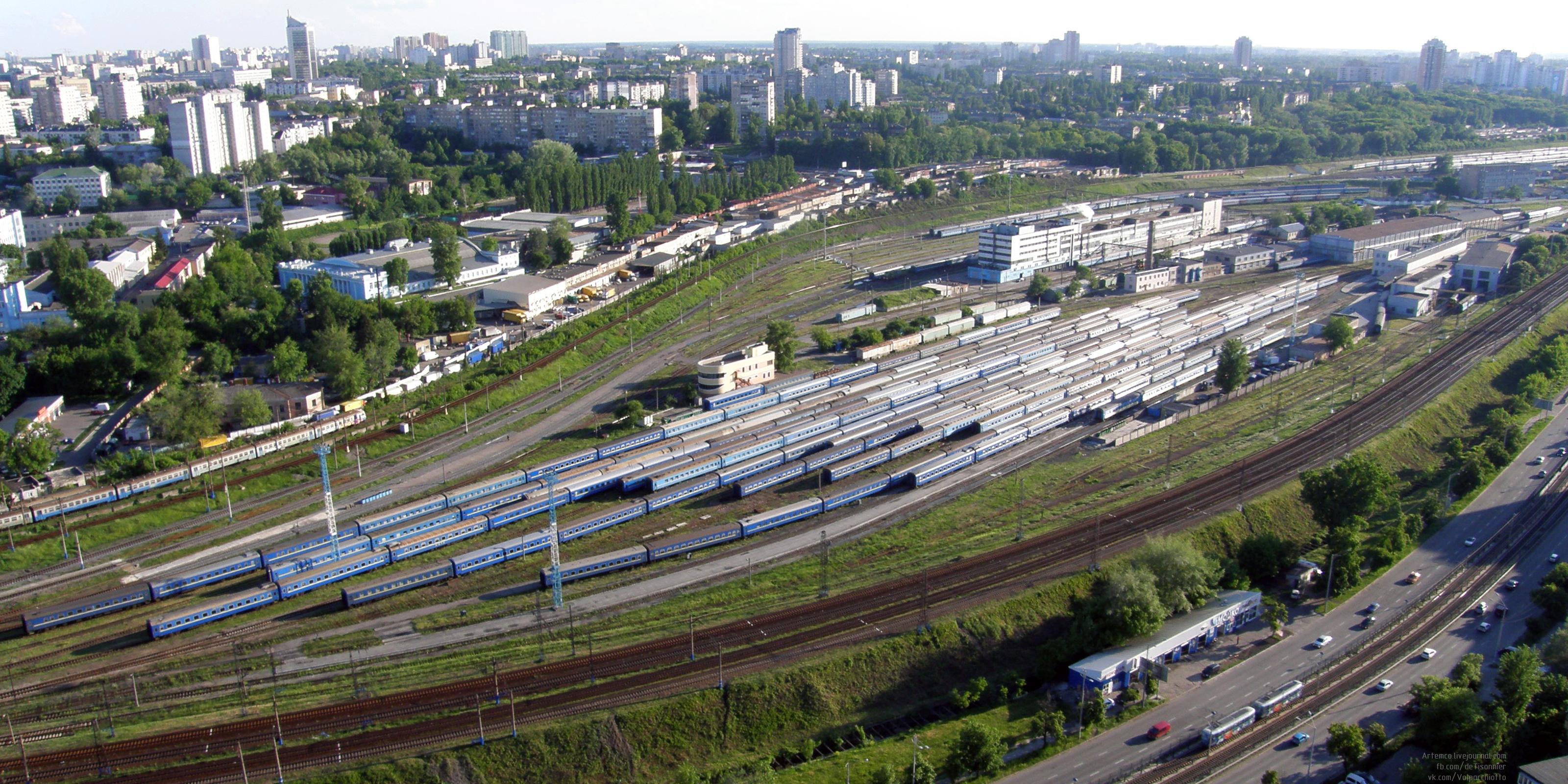 Основной парк вагонного депо Киев-Пассажирский