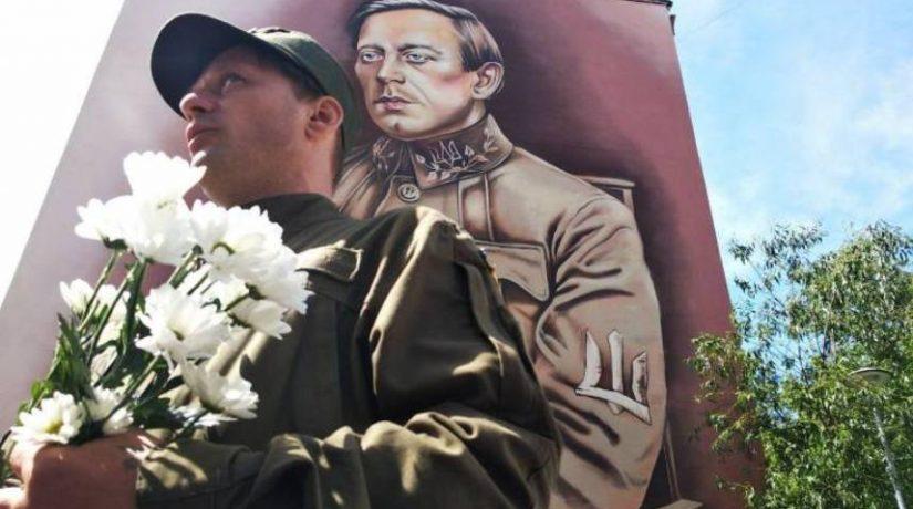 В Соломенском районе открыли мурал, посвященный Симону Петлюре