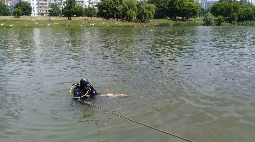 озеро, водолазы