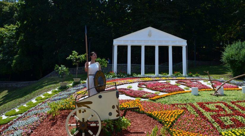 Певческое поле, выставка цветов