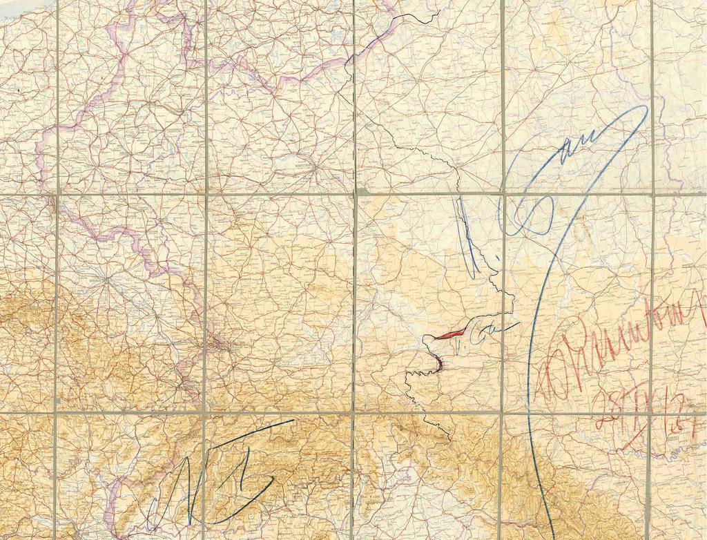 Карта раздела Польши, заверенная подписями Сталина и Риббентропа, 1939 год