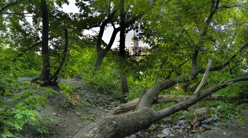 Фроловская, Замковая, гора, лестница, мусор