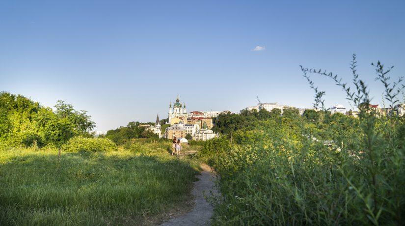 Замковая, гора, Андреевская, церковь, парк