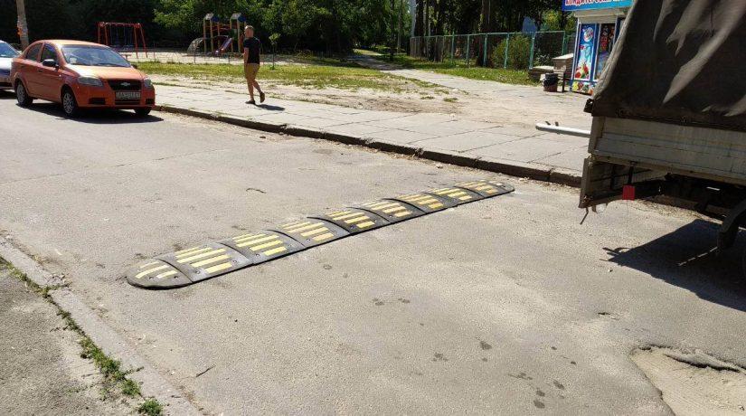 На Виноградаре возле школы № 3 повышена безопасность движения