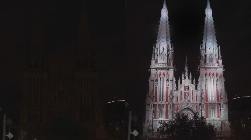 Костел Святого Николая в Киеве получил новую подсветку