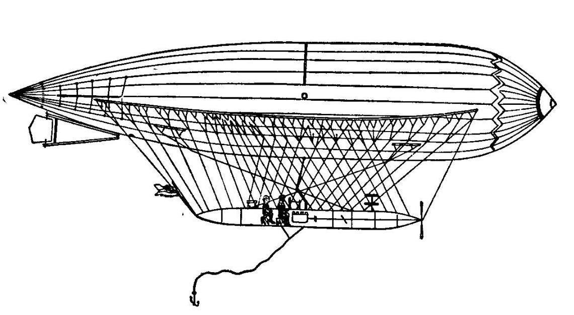 Принципиальная схема дирижабля Андерса