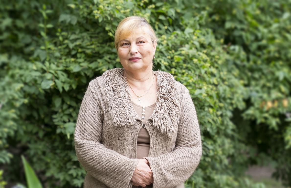 Любовь Сысуева, жительница Голосеевского района. Фото: Катерина Френч